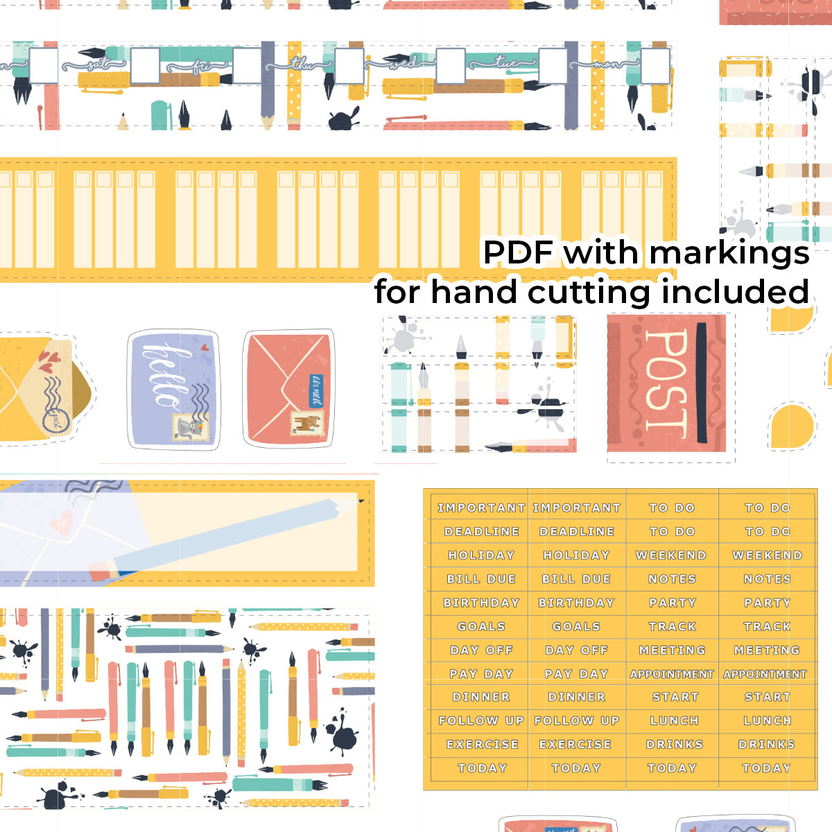 PRINTABLE | HOBONICHI WEEKS | Cute Penpal & Sweet Penpal