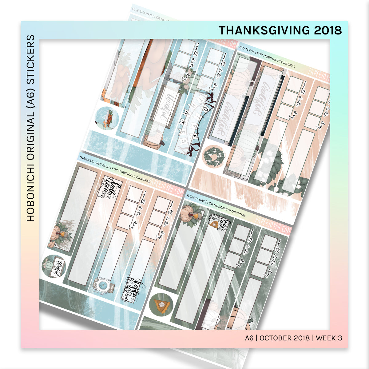 HOBONICHI ORIGINAL (A6) | Thanksgiving 2018