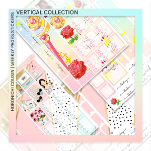 HOBONICHI COUSIN | VERTICAL STICKER KIT | Get It Girl