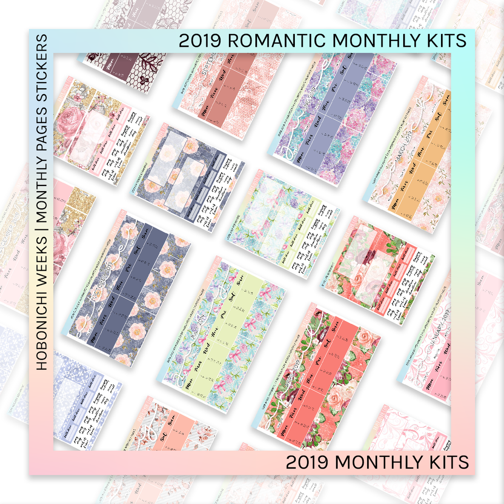 HOBONICHI WEEKS | 2019 MONTHLY PAGES | Monthly Romantic 2019 BUNDLE