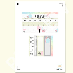 PRINTABLES | HOBONICHI WEEKS | 2020 MONTHLY PAGES | August 2020 Scandi Cute
