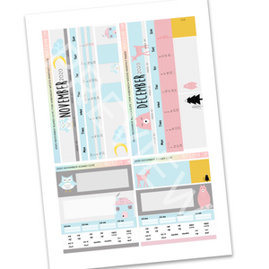 PRINTABLES | HOBONICHI WEEKS | 2020 MONTHLY PAGES | SCANDI CUTE 2020 Bundle