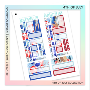 PRINTABLE | HOBONICHI WEEKS | 4th of July
