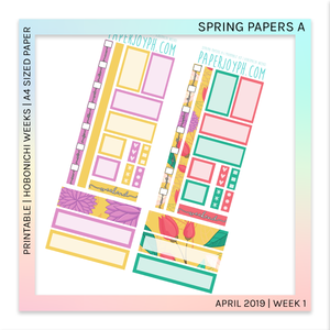 PRINTABLE | HOBONICHI WEEKS | Spring Papers A A4 size paper