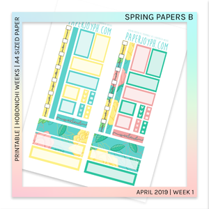 PRINTABLE | HOBONICHI WEEKS | Spring Papers B A4 size paper