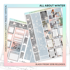 HOBONICHI COUSIN | VERTICAL STICKER KIT | All About Winter