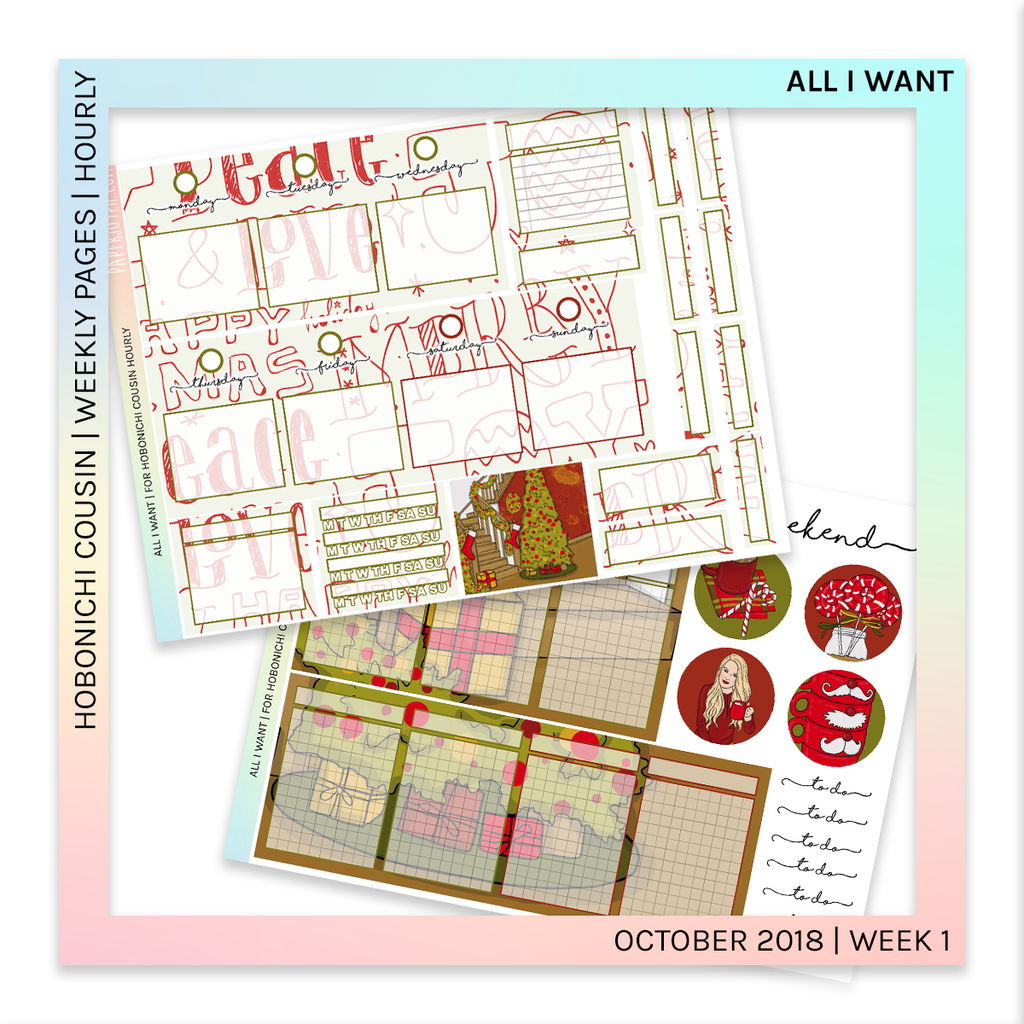 HOBONICHI COUSIN | HOURLY STICKER KIT | All I Want