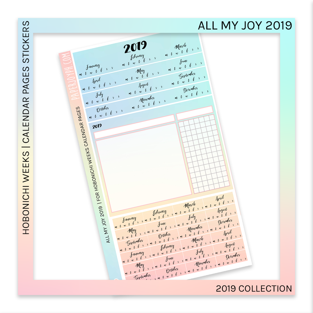 HOBONICHI WEEKS | CALENDAR PAGES | All My Joy 2019