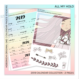 HOBONICHI ORIGINAL (A6) | CALENDAR PAGES JAPANESE VERSION | All My Joy 2019