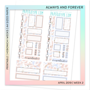 PRINTABLE | HOBONICHI WEEKS | Always and Forever A4 size paper