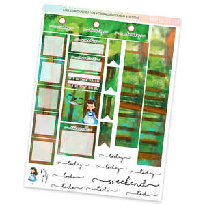HOBONICHI COUSIN | VERTICAL STICKER KIT | AND CURIOUSER