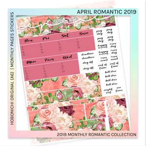 HOBONICHI ORIGINAL (A6) | MONTHLY PAGES | April Romantic 2019