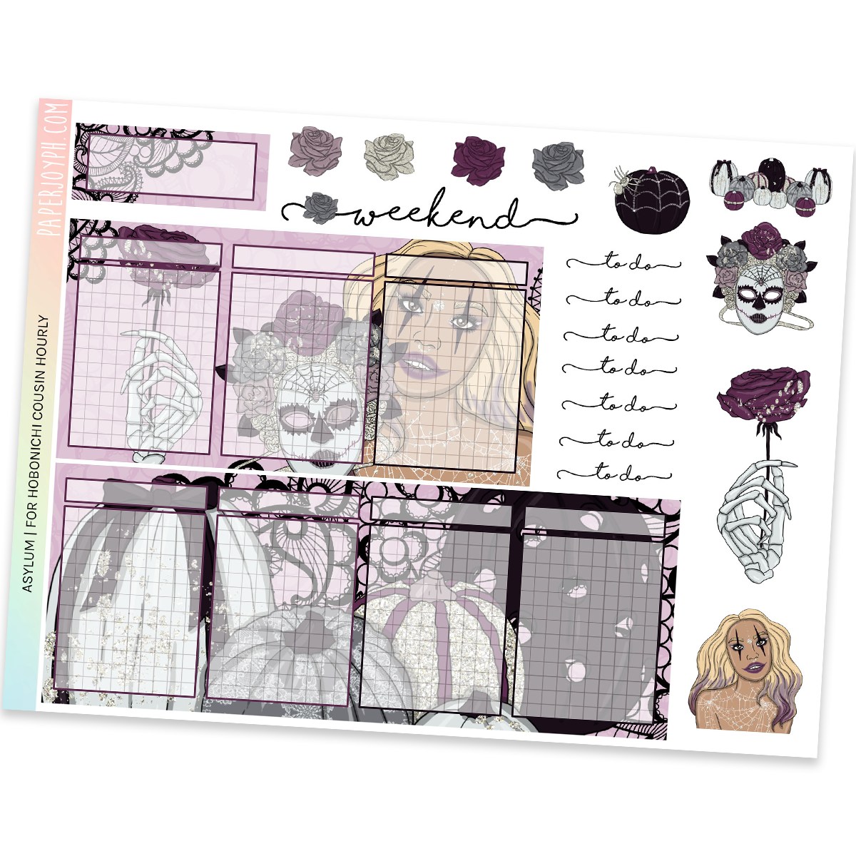 HOBONICHI COUSIN | HOURLY STICKER KIT | Asylum