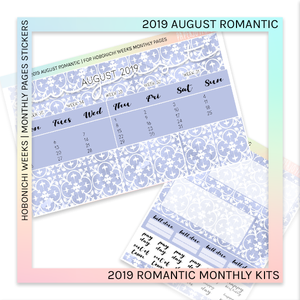 HOBONICHI WEEKS | 2019 MONTHLY PAGES | August Romantic 2019