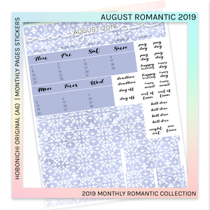 HOBONICHI ORIGINAL (A6) | MONTHLY PAGES | August Romantic