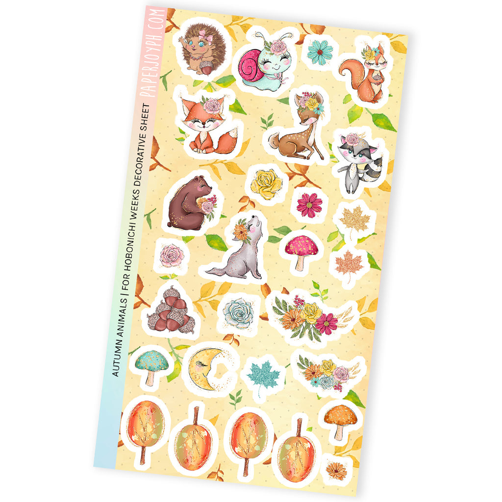 DECORATIVE SHEET | AUTUMN ANIMALS