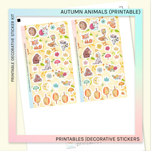 PRINTABLE | DECORATIVE SHEET | AUTUMN ANIMALS