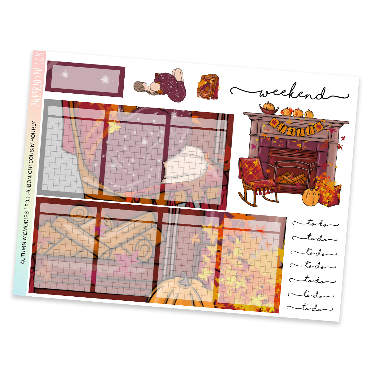 HOBONICHI COUSIN | HOURLY STICKER KIT | AUTUMN MEMORIES