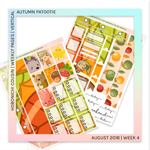 HOBONICHI COUSIN | VERTICAL STICKER KIT | Autumn Patootie