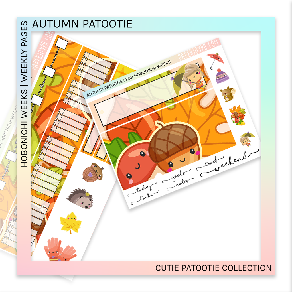HOBONICHI WEEKS | WEEKLY PAGES | Autumn Patootie
