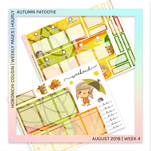 HOBONICHI COUSIN | HOURLY STICKER KIT | Autumn Patootie