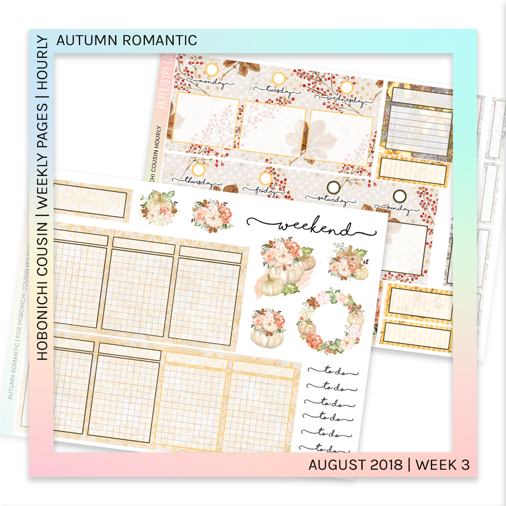 HOBONICHI COUSIN | HOURLY STICKER KIT | Autumn Romantic