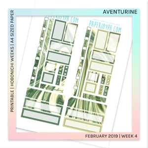 PRINTABLE | HOBONICHI WEEKS | Aventurine A4 size paper