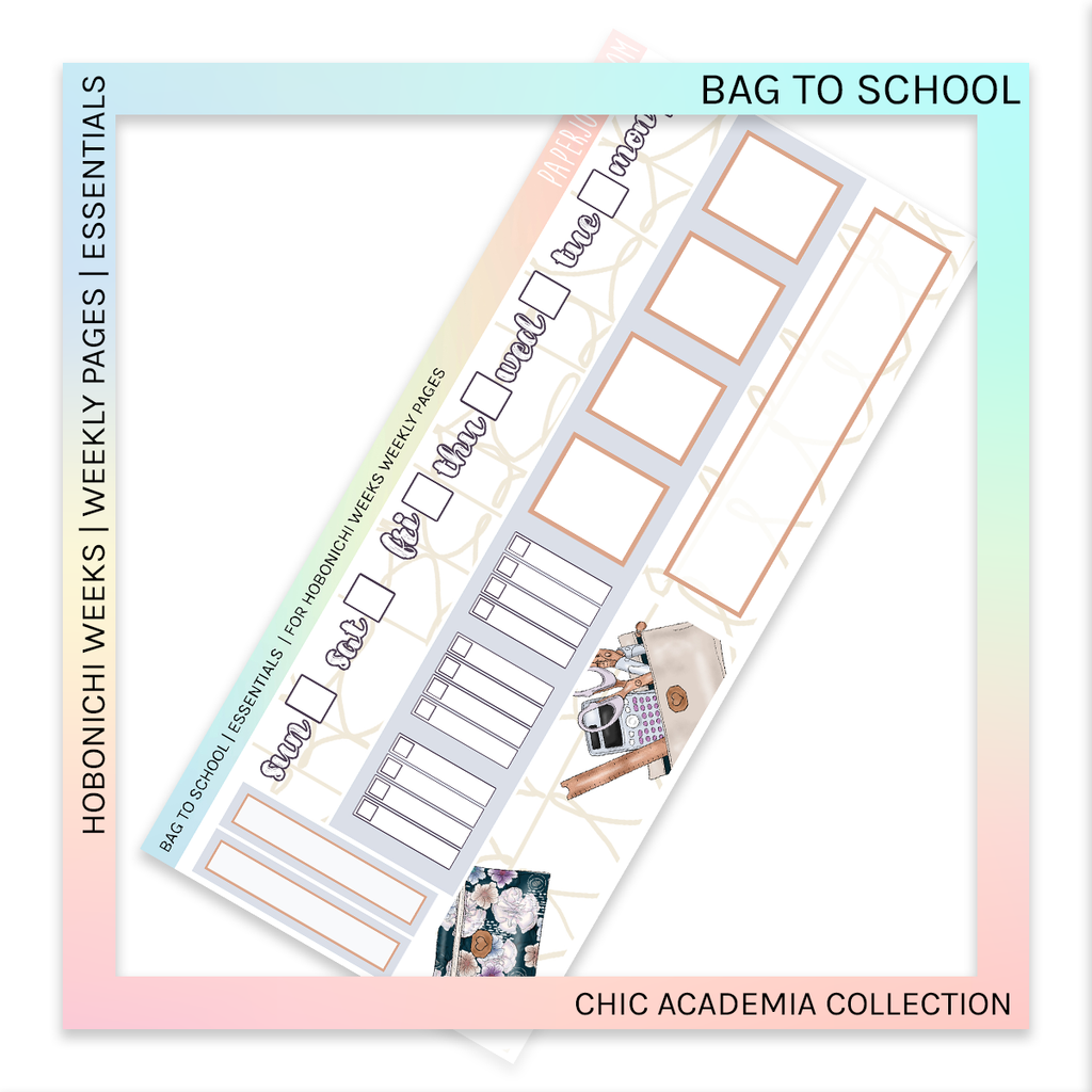 HOBONICHI WEEKS | ESSENTIALS | Bag to School