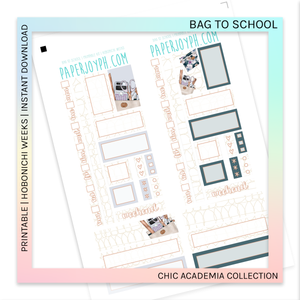 PRINTABLE | HOBONICHI WEEKS | Bag To School