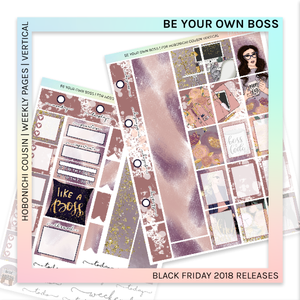 HOBONICHI COUSIN | VERTICAL STICKER KIT | Be Your Won Boss