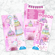 Personal Planner Vertical  Sticker Kit | BIRTHDAY SWEETS