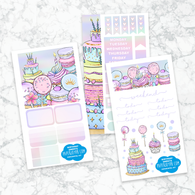 Personal Planner Horizontal Sticker Kit | BIRTHDAY SWEETS