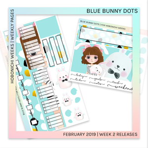 HOBONICHI WEEKS | WEEKLY PAGES | Blue Bunny Dots