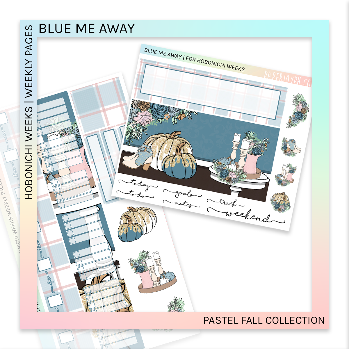 HOBONICHI WEEKS | WEEKLY PAGES | Pastel Fall Bundle