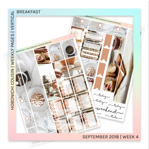 HOBONICHI COUSIN | VERTICAL STICKER KIT | Breakfast