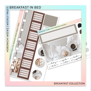HOBONICHI WEEKS | WEEKLY PAGES | Breakfast in Bed