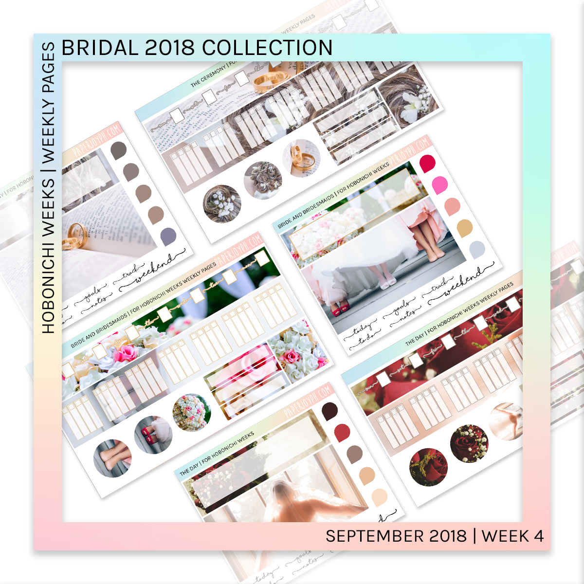 HOBONICHI WEEKS | WEEKLY PAGES | Bride and Bridesmaids