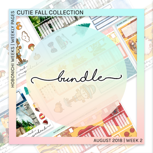 HOBONICHI WEEKS | WEEKLY PAGES | Cutie Fall Bundle