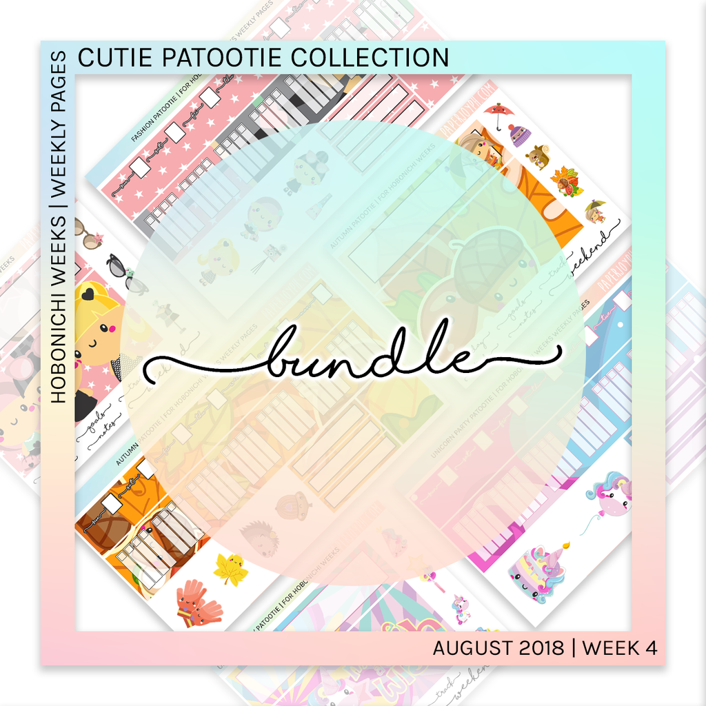 HOBONICHI WEEKS | WEEKLY PAGES | Cutie Patootie Bundle