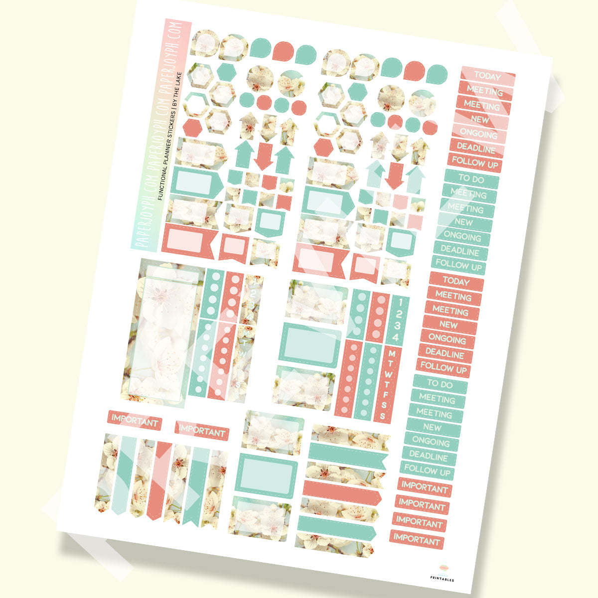 PRINTABLE | FUNCTIONAL STICKER KITS | By The Lake