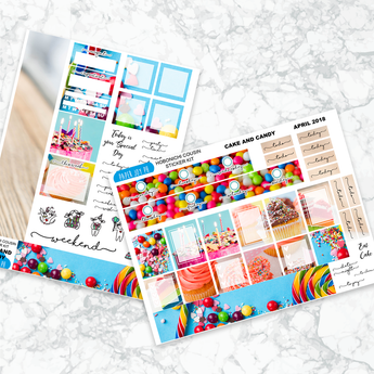 Hobonichi Cousin Sticker Kit | CAKE AND CANDY