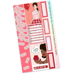 VERTICAL PLANNER STICKER KIT | Can't Take My Eyes Off You
