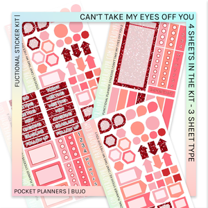 FUNCTIONAL STICKER KITS | Can't Take My Eyes Off You