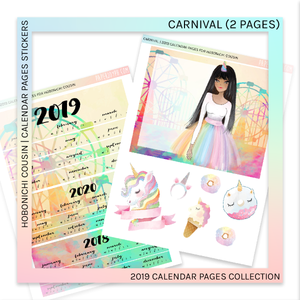 HOBONICHI COUSIN | CALENDAR PAGES | Carnival