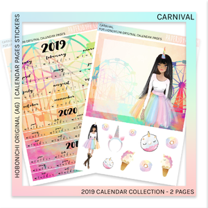 HOBONICHI ORIGINAL (A6) | CALENDAR PAGES JAPANESE VERSION | Carnival 2019