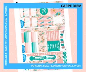 Printables for Personal Planner | Vertical Sticker Kit | CARPE DIEM