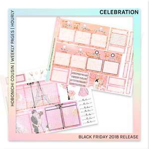 HOBONICHI COUSIN | HOURLY STICKER KIT | Celebration