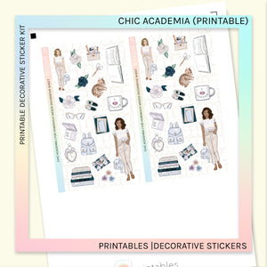 PRINTABLE | DECORATIVE SHEET | CHIC ACADEMIA