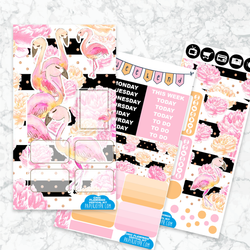 Personal Planner Vertical  Sticker Kit | CHIC FLAMINGO
