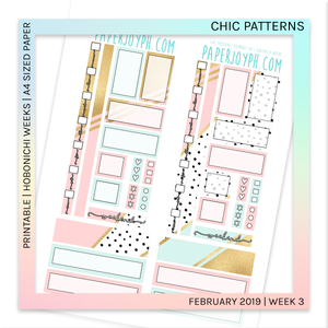 PRINTABLE | HOBONICHI WEEKS | Chic Patterns A4 size paper